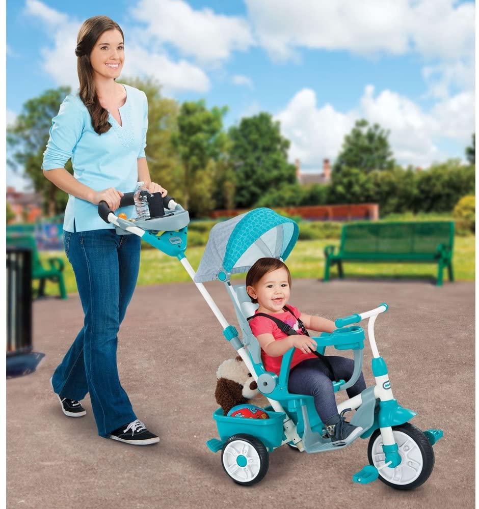 tricycle évolutif bleu ciel de l'enseigne Little tikes