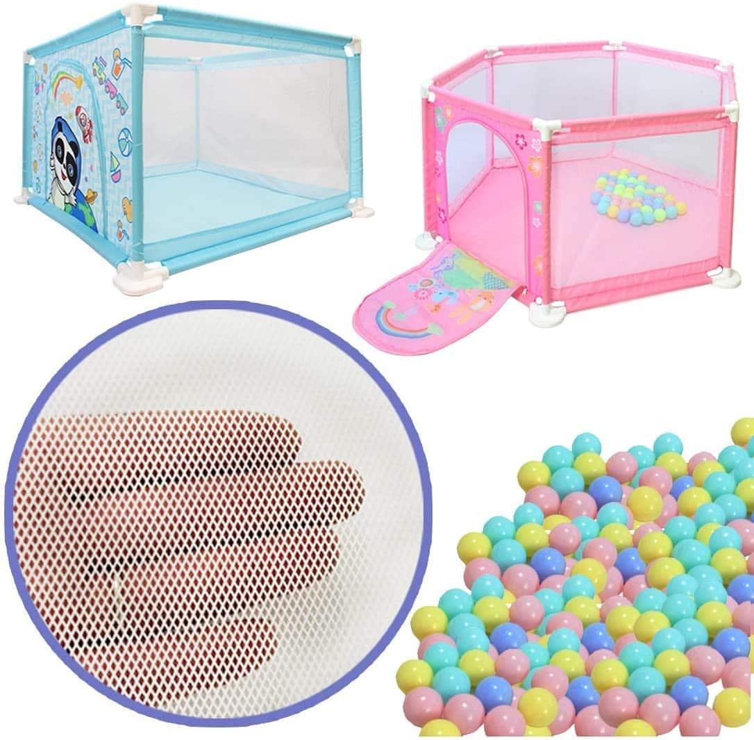 parc bébé pas cher avec balles colorées Deao
